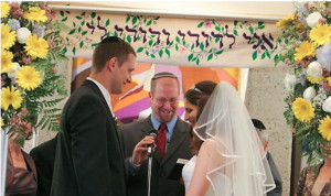 Rabbi Speaks to Wedding Couple